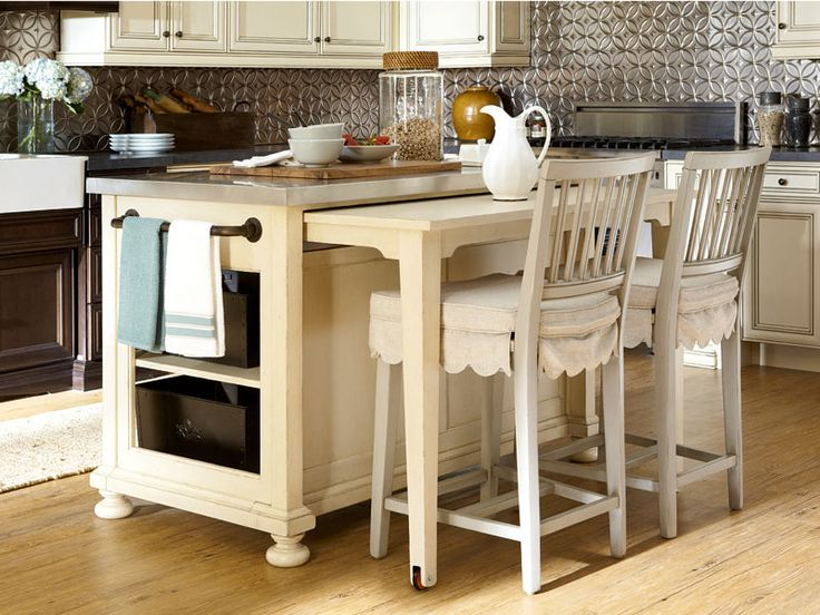 17 best images about casual dining room on pinterest for Kitchen island table with chairs