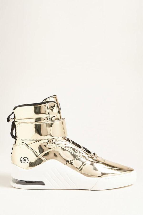 21 MEN Radii Metallic High-Top Sneakers