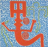 Keith Haring Untitled (Aztec Snake Goddess) 1984 Galerie Laurent Strouk