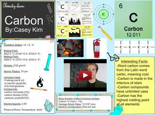 Carbon is the 15th most abundant element in the Earth's crust, and the fourth most abundant element in the universe by mass after hydrogen, helium, and oxygen. It is present in all known life forms, and in the human body carbon is the second most abundant element by mass (about 18.5%) after oxygen. #Glogster #Carbon