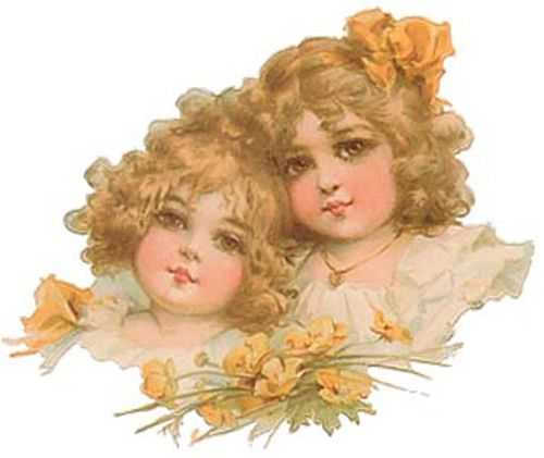 BroWN EYeD BeauTieS ShaBby WaTerSLiDe DeCALs ~VinTaGe CHiLdReN~