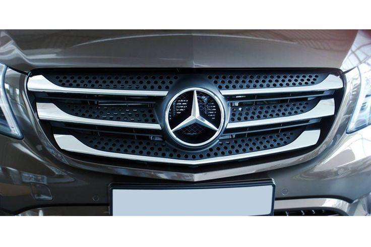 Einstiegsleisten, Ladekantenschutz & Edelstahl Grill Leisten für Mercedes V-Klasse / Vito W447 (Version 1) Ladekantenschutz für Mercedes