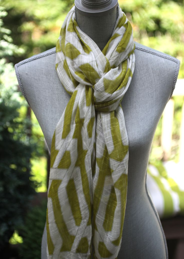 Click through for 3 really interesting scarf tying how-to's.