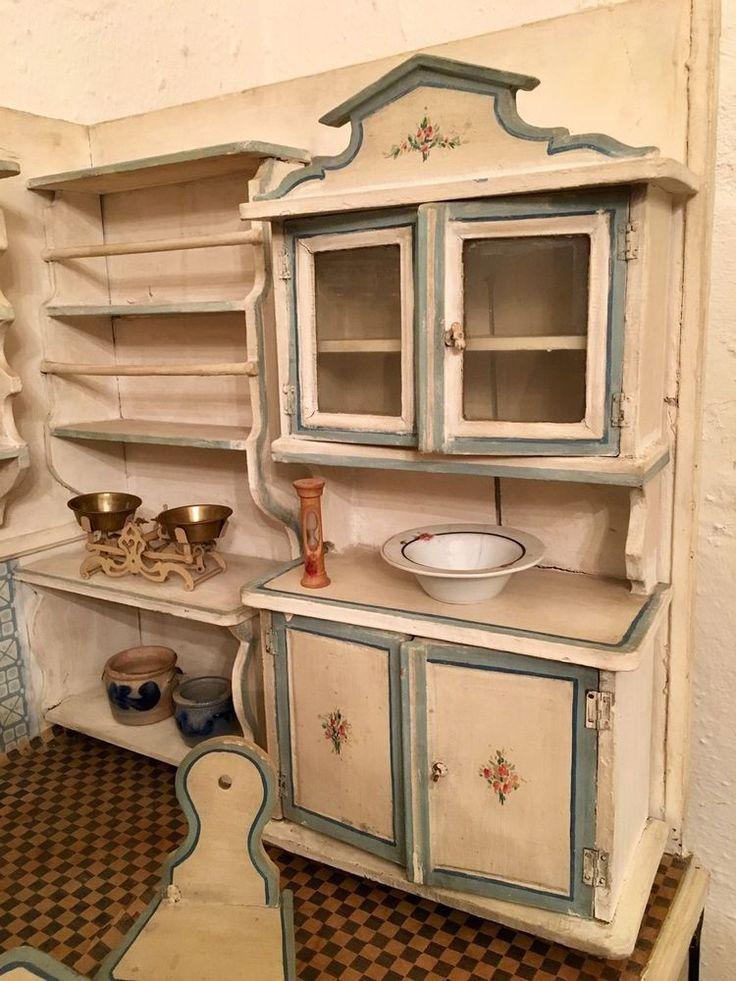 Antike puppenstube aus sammlung gottschalk um jh modell küche