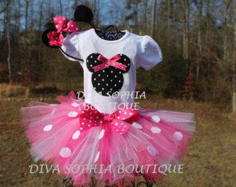 Pink Minnie Mouse Tutu Birthday Minnie by DivaSophiaBoutique