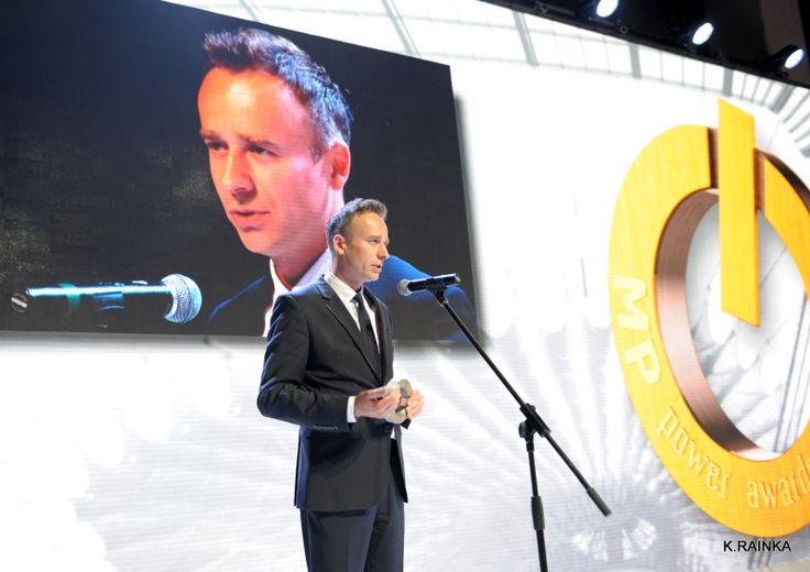 Jarosław Sądej, Managing Director Jet Events, przemawia podczas ceremonii MP Power Awards 2013 - chwilę po odebraniu głównej nagrody w kategorii Kongres, za organizację międzynarodowej konferencji IPO Summit, Warsaw 2013.