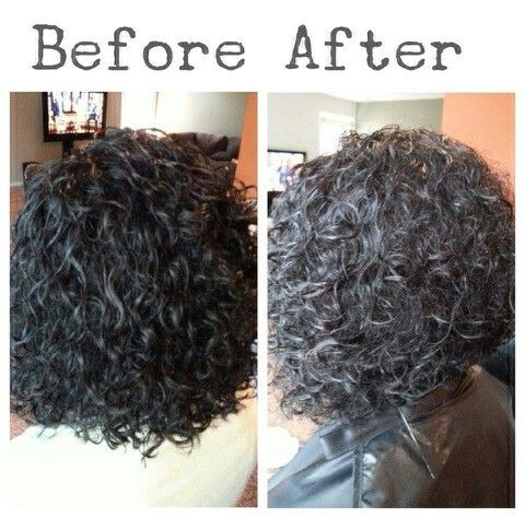 Short Inverted bob on curly hair