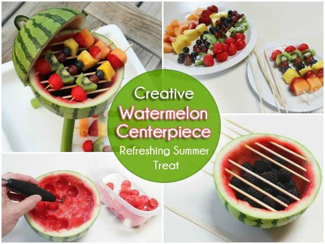 A Creative Watermelon Centerpiece
