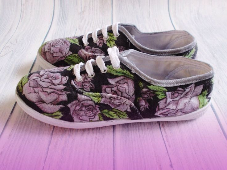 Hand Illustrated Lace up Pumps - Tattoo Roses in Size 4 by Gemsville on Etsy https://www.etsy.com/listing/91009021/hand-illustrated-lace-up-pumps-tattoo