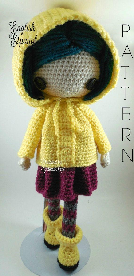 Coraline Amigurumi Doll Crochet Pattern PDF by CarmenRent
