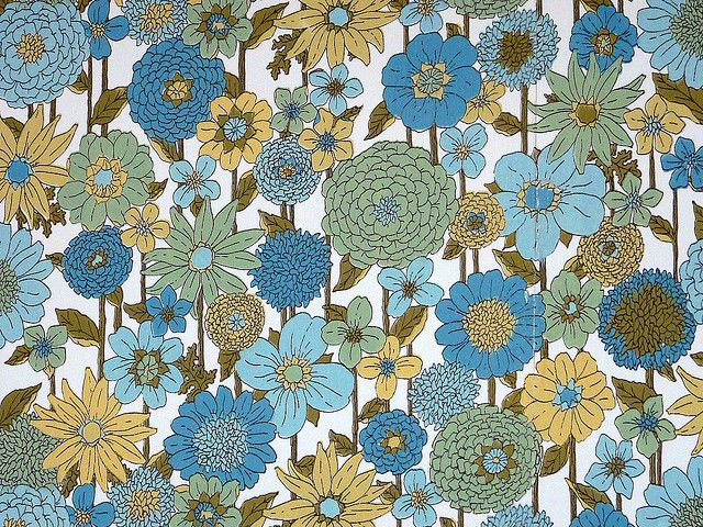 Genuine 1970s Flower Power Wallpaper by PassionForVintage, via Flickr
