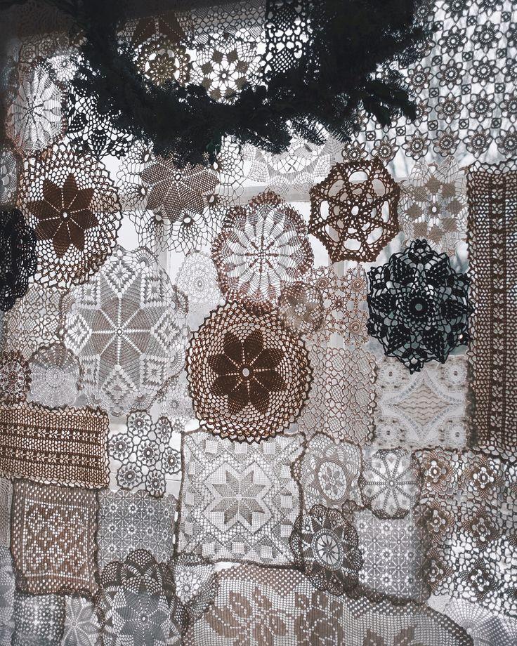 crochet lace doily curtain @finelittleday