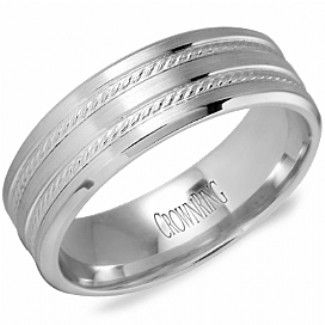 Crown Ring - Collections Wedding Bands Carved Wb 9503 M10