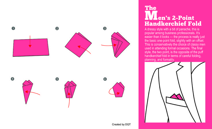 How To Fold a Two-Point Handkerchief (1 of 11) by DQT