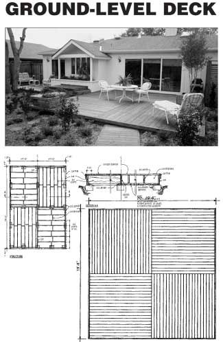 25 best ideas about ground level deck on pinterest for Basic deck building instructions