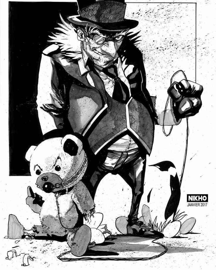 Salut voici une illustration ayant pour sujet un Mash up entre l'infâme Pingouin et ce gros pervers de Ted. #pingouin #batman #dccomics #comics #gotham #draw #drawing #art #artist #illustration #ink  #mafia #vilain #ted #ours #sethmcfarlane #instaart #instaday #artoftheday #pervers #instalike #speeddrawing #thedarkknight #darkknight