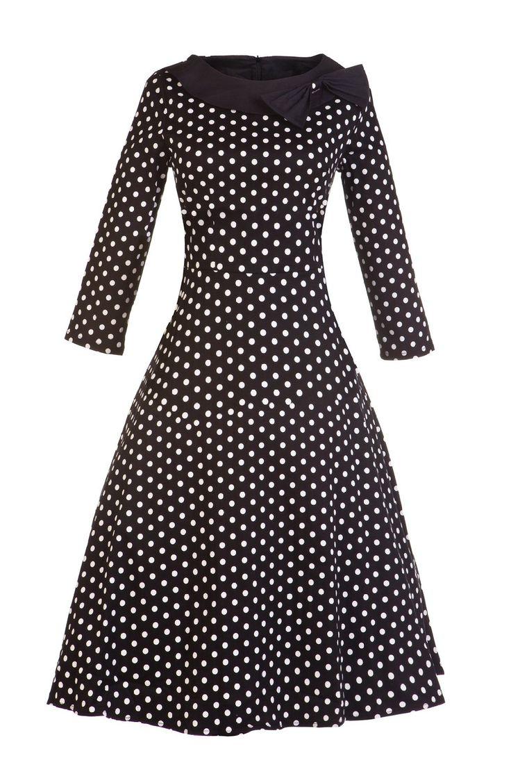 Amazon.com: VOGTAGE 1950's 3/4 Sleeve Wave Point Retro Vintage Dress with Defined Waist Design: Clothing  https://www.amazon.com/gp/product/B0188R6424/ref=as_li_qf_sp_asin_il_tl?ie=UTF8&tag=rockaclothsto-20&camp=1789&creative=9325&linkCode=as2&creativeASIN=B0188R6424&linkId=16bdc11bc949486d11df149decfbc805