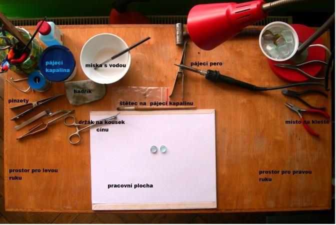 Fler BLOG: Jar23 / Pracovní stůl a nářadí na cínované šperky