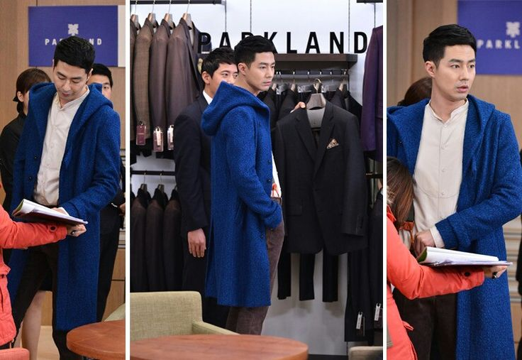 Blue Hoodie Coat of Jo Insung's (That Winter, The Wind Blows)