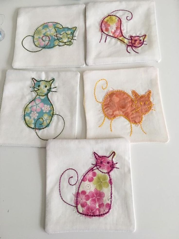 Free Embroidery Designs: 5 Cat Pincushions