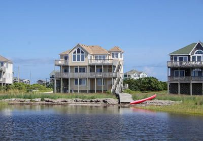 Avon vacation rentals east wind soundfront outer banks for Hatteras cabins rentals