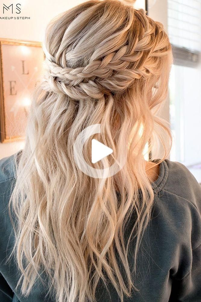 Amazing Boho Wedding Hairstyles For Tender Bride In 2020 Hair Styles Cute Hairstyles For Medium Hair Braided Hairstyles For Wedding