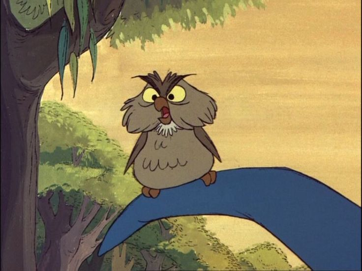 Archimedes The Highly Educated Owl - Sword in the Stone
