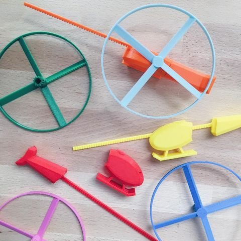 3D printed Flying Helicopter Toy, 3DBROOKLYN