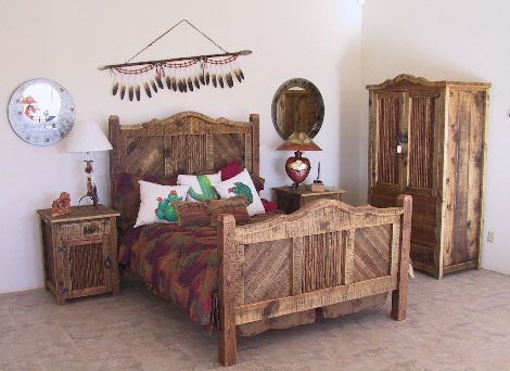Rustic Bedroom Furniture | Western Furniture, Rustic Furniture, Southwestern Furniture