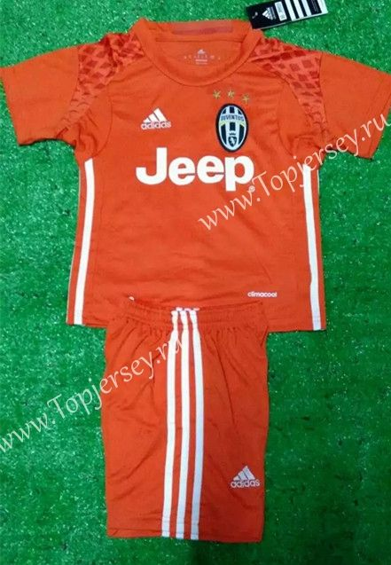 2016/17 Juventus Goalkeeper Orange Kid/Youth Soccer Uniform-Juventus| topjersey