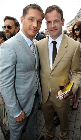 Tom Hardy + Jonny Lee Miller - The Veuve Clicquot vintage stakes at Goodwood racecourse in Sussex, July 2010
