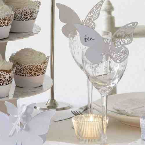 384 best wedding decorations images on pinterest wedding decor an elegant wedding range with delicate butterfly design beautiful wedding favours and table accessories available pack of 10 butterfly place cards junglespirit Choice Image