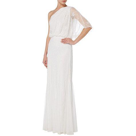 Buy Raishma Embellished One Shoulder Gown, White Online at johnlewis.com