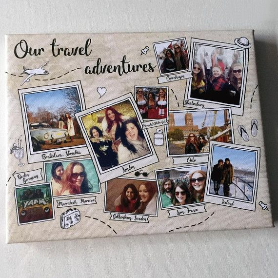 Personalised travel keepsake holiday photo gift adventure memories print best friend family present vacation souvenir ideas