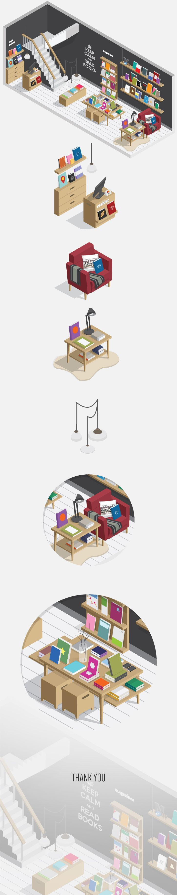 Bookstore, from Mario from Indonesia, on Behance.