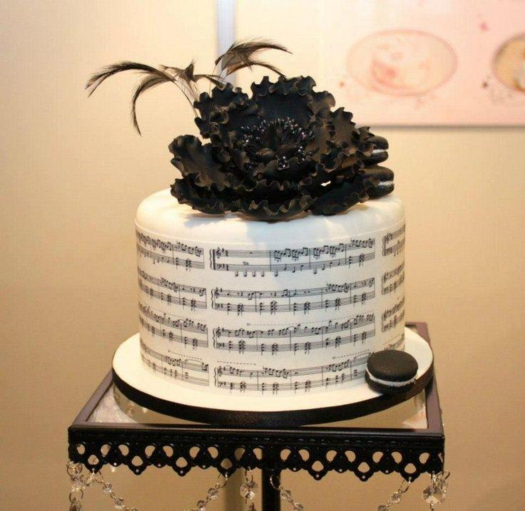 Bolos decorados música - http://www.boloaniversario.com/bolos-decorados-musica/