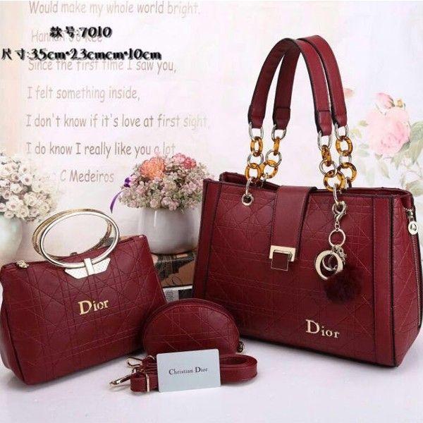Dior Exclusive Design Women Handbags Red Volosho Collection For Las