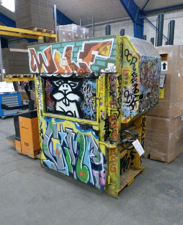 One of the more colorful X25 vertical balers we have seen at Bramidan US #reduce #reuse #recycle
