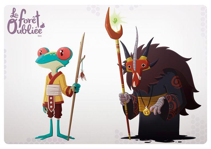 La Forêt Oubliée Characters by Jordi Villaverde | Abduzeedo Design Inspiration