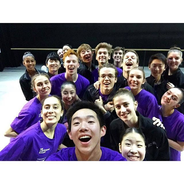 Students of The Australian Ballet School on tour with The Dancers Company can be seen here in the rehearsal studios in Echuca.
