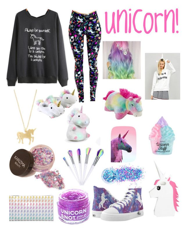 """Unicorn Outfit!"" by juliannashannon ❤ liked on Polyvore featuring Rare London, FCTRY, In Your Dreams, Pillow Pets, GetTheLook and unicorn"