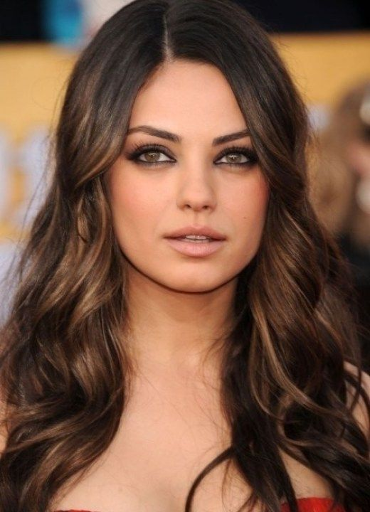 Dark brown hair with mahogany auburn highlights...now that is gorgeous color!