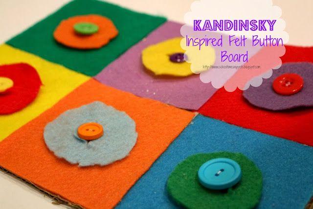 School Time Snippets: Kandinsky Inspired Felt Button Board {Fine Motor Friday}