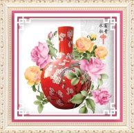 """Алмазная мозаика """"Красная ваза"""" 🖼 алмазная вышивка распродажа! Реальные Скидки до 60%! Hit-Hunter.ru"""