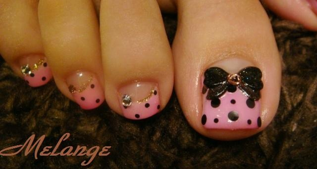 Looks weird for toes but I'd love it for nails. Maybe the pedicure wouldn't look so weird if the pink wasn't so wide. Makes the nails look freakishly long and the nail beds ultra tiny.