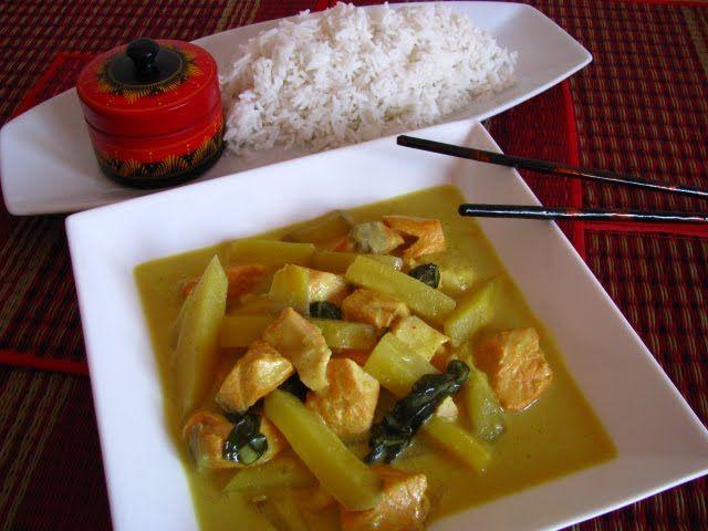 -Cozinha Sem Tabus-: Caril Tailandes de Peixe com Arroz Basmati