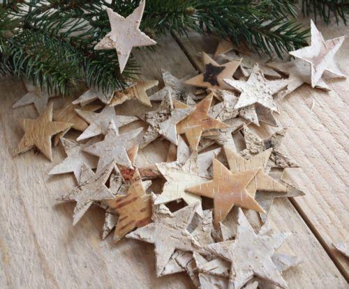 145-Birken-Sterne-2-5cm-Birkensterne-Weihnachten-Herbst-Tuerkranz-Adventskranz