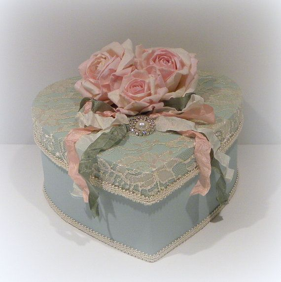 Shabby Chic Box Valentine box Valentine Gift by uniqueboxboutique, $45.00