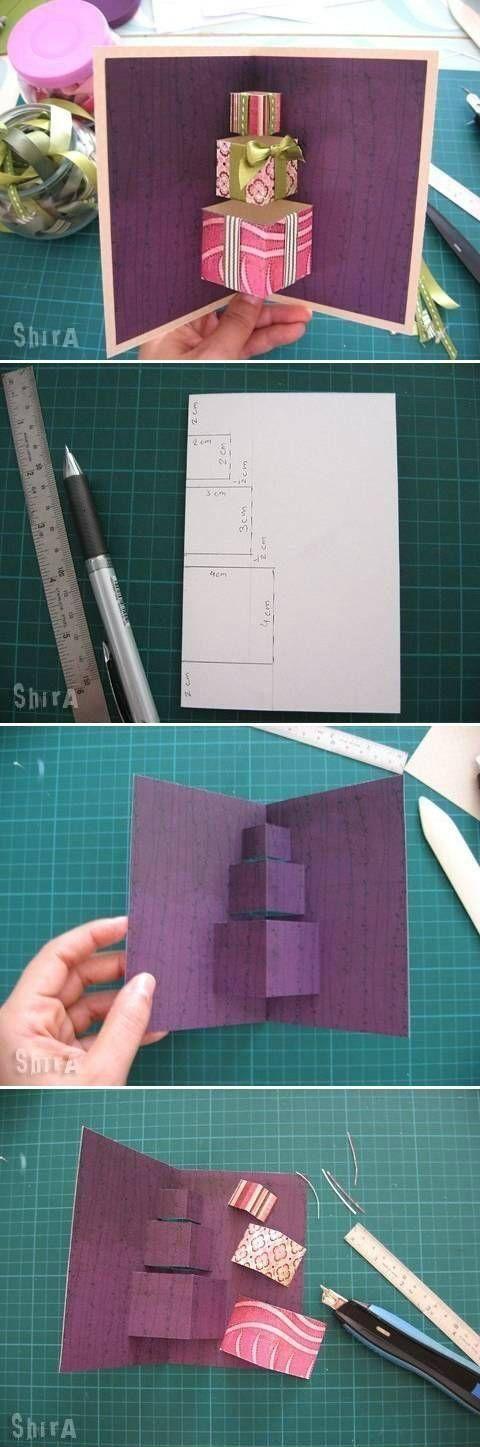 Carte de vœux DIY cadeaux 3D. 14 magnifiques cartes de vœux à faire soi-même