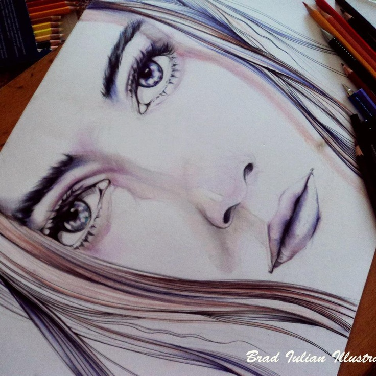 Amazing eyes captured in an illustration.